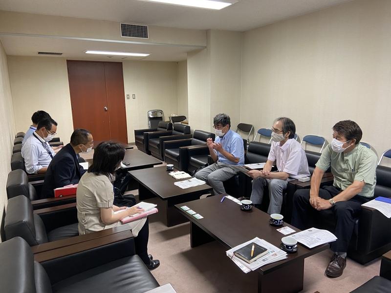 千葉県の担当課との話し合い